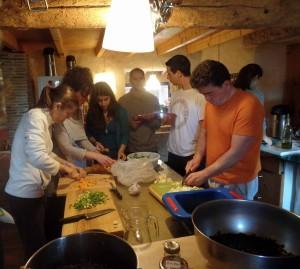 Aula de culinária e nutrição Ayurvédica.