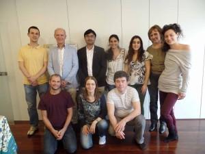 Workshop de Panchakarma, com os alunos e terapeutas estiveram o Dr. Sachin Kotalgaonkar e Joaquim Jorge (em pé, da direita para a esquerda, respetivamente).